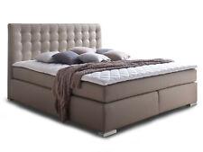 Boxspringbett 160x200 H3 beige Boxspring Bett Doppelbett Hotelbett muddy ISABELL