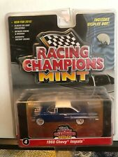 1/64 RACING CHAMPIONS MINT 1960 CHEVROLET IMPALA COUPE BLUE WITH WHITE TOP