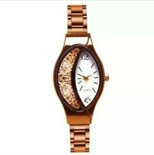 New Classical womens ladys diamond Oval dial watch Rose gold quartz watches