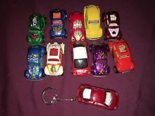 Mixed Lot Of 10 Toy Cars & 1 Toy Car Keychain