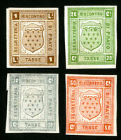 Italy Prato Stamps VF OG H Set of 3x Revenue Proofs
