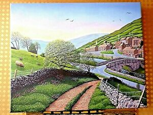 Canvas print Muker Swaledale Yorkshire Dales from oil painting Will Ellen
