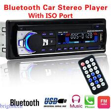 Car Bluetooth Radio Stereo Head Unit Player MP3/USB/SD/AUX-IN/FM USB w/ISO Port