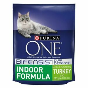 Purina ONE Indoor Formula Turkey & Whole Grains Dry Adult Cat Food **3KG PACK**