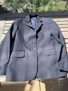 RJ CLASSICS GIRLS SIZE  14R NAVY BLUE SHOW COAT