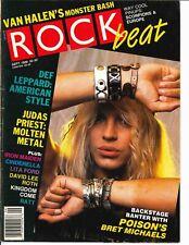 Rock Beat Magazine September 1988 Poison Def Leppard Van Halen Judas Priest Ratt