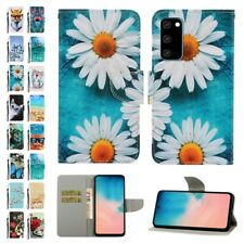 For Samsung S20 A01 A51 Cute Pattern Magnetic Flip Wallet Stand Card Case Cover