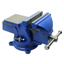 "5"" Heavy Duty Steel Bench Vise with Anvil Swivel Table Top Clamp Locking Base"
