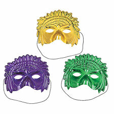 Headdress Mardi Gras Masks 12 Piece Party Favor