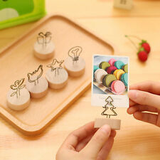 Creative Round Wooden Iron Photo Name Memo Card Clip Pendant Furnishing