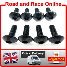 Fairing Screws Allen Head Fairing Bolts Fixings 5mm x 15mm Black Aluminium x 8