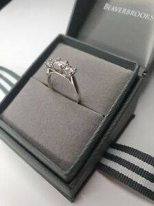 9ct White Gold Trilogy Ring - Beaverbrooks