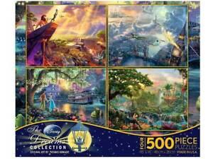 Thomas Kinkade Disney set of 4 x 500 piece puzzles V2