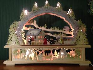 LED Schwibbogen Lichterbogen Weihnacht Erzgebirgische 413 mit Trafobetrieb