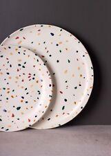 1 Terazzo Speckled Dinner Plate, Multi Colour Pattern Dassie Artisan