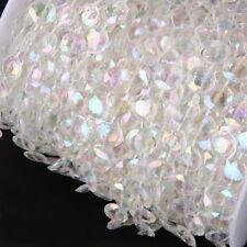 1m Girlande, Klar, Facettenschliff, Hochzeit Deko Perlenvorhang Strang Perlen