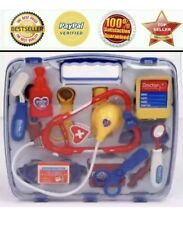 Kids Childrens Role Play Doctor Nurses Toy Medical Set Kit Gift Hard Carry Case