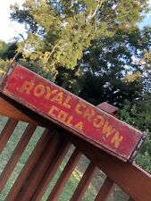 """1950s Royal Crown Cola 24 Bottles Crate 20"""" X 12"""" X 4"""". Has Wear See Photos."""