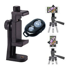 Rotating Smartphone Tripod Mount + Wireless Shutter for iPhone 11 Pro Max X S10
