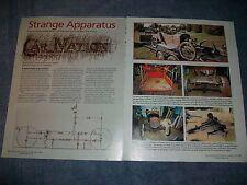 "1913 Car-Nation Roadster Restoration Article ""Starnge Apparatus"""