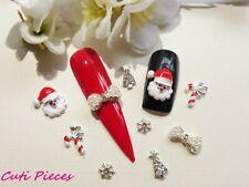 Xmas Nail Art Rhinestone Santa Snowflake Tree Bow Candy Cane Mix Alloy Metal X20