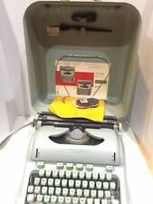 Hermes 3000 SCRIPT Cursive Portable Green Typewriter w Case & Accessories