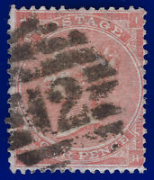 1862 SG79 4d Bright Red J52(1) IH London Foreign Branch 12 Cat £170 abbv
