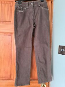 Gerry Weber skinny Brownwith studs jeans Size 8