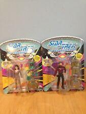 2 Star Trek The Next Generation William T Riker & Deanna Troy Action Figures