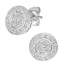 Naava 9ct White Gold Women's Diamond Earrings (PE03653W)