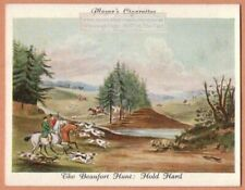"Beaufort Fox Hunt With Hounds ""Hold Hard"" 1930s Ad Trade Card"