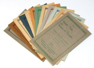 Simple Talks on Science of Thought Nos. 1-12/Complete Set/Hamblin/Optician