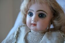 French Bisque Bebe Jumeau, size 5, rare with white summer dress