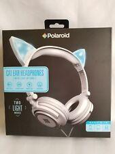 New Polaroid Blue Cat Ear Headphones Light Up Ears