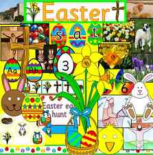 EASTER and SPRING teaching resource on CD- display, games, story, worksheets
