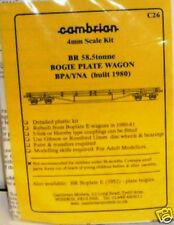 CAMBRIAN OO GAUGE BR 58.5 TONNE BOGIE PLATE WAGON BPA//YNA MODEL RAILWAY KIT C26