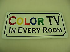 Vintage Style Retro COLOR TV IN EVERY ROOM Metal Sign 4 Highway Hotel Motel HWY