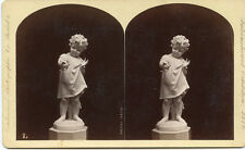 """INTERNATIONAL EXHIBITION CENTENNIAL 1876 STEREOVIEW STATUE OF JOY """"YOUNG CHILD"""""""