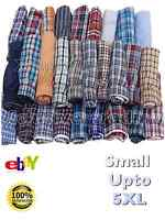 boxer shorts mens check woven cotton rich underwear breifs short trunks 3 pair