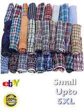 boxer shorts mens check woven cotton rich underwear breifs short trunks 3 pair