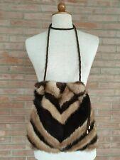 borsa a spalla pelliccia di visone fourrure sac vison nerz Beute mink fur bag