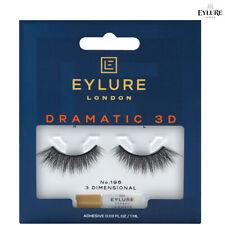 Eylure 3D DRAMATIC False Eyelashes No.196 Reusable lashes and Latex Free Glue