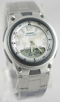 Casio AW-80D-7A2 White Databank Watch Steel Band World Time 10 Year Battery New