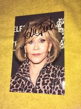 Photo Rare Et Collector Dedicace Autograph Jane Fonda