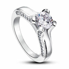 Wedding Solitaire with Accents Fine Rings