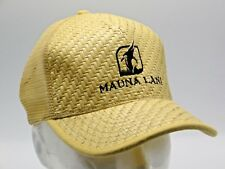 LEGENDARY Mauna Lani Snapback Trucker Ball Cap Yellow Wicker Golf Country Club