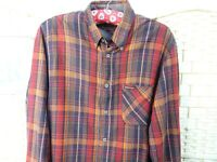 Malboro Classics brushed cotton shirt  lumberjack flannel long sleeve check S/M