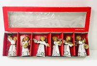 Vintage Angel Musicians Ornaments Made In Italy Lillian Vernon Set Of 6
