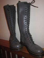 Dr MARTENS UK 6.5 EU 40 zip sides 20 lace hole BOOTS grey 1B60  High.LADIES
