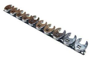 US PRO 10pc Metric Crowfoot 3/8'' Drive Spanner Socket Wrench B2054